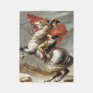 ジェイクスルイデイヴィッド著アルプスを交差させているナポレオン フリースブランケット
