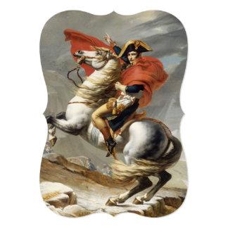 ジェイクスルイデイヴィッド著アルプスを交差させているナポレオン 12.7 X 17.8 インビテーションカード
