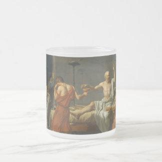 ジェイクスルイデイヴィッド1787年著Socratesの死 フロストグラスマグカップ