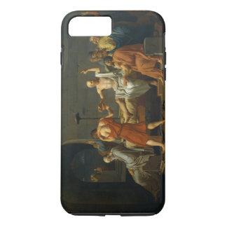 ジェイクスルイデイヴィッド1787年著Socratesの死 iPhone 8 Plus/7 Plusケース