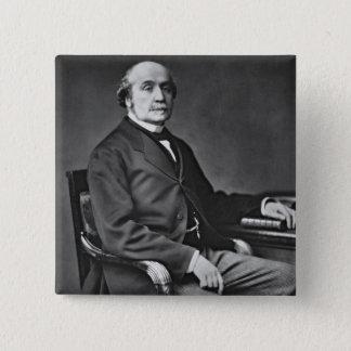 ジェイクスVictorアルバートde Broglie (1821-1901年)、から 5.1cm 正方形バッジ