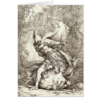 ジェイソンおよびドラゴン(17世紀なエッチング) カード