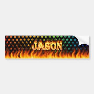 ジェイソンの実質火および炎のバンパーステッカーは設計します バンパーステッカー