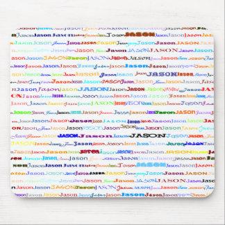ジェイソンの文字デザインなIIマウスパッド マウスパッド