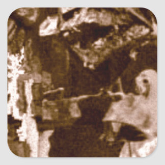 ジェイソンの翼およびくま スクエアシール