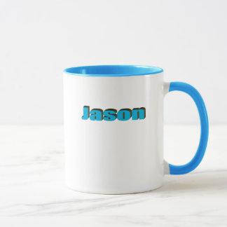 ジェイソンの青い信号器のコーヒー・マグ マグカップ
