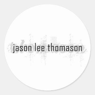 """ジェイソンリーのthomason 3""""ステッカー ラウンドシール"""