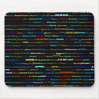 ジェイソン文字デザインなIのマウスパッド マウスパッド
