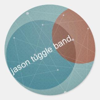 ジェイソンTuggleバンドはステッカーに点を打ちます ラウンドシール