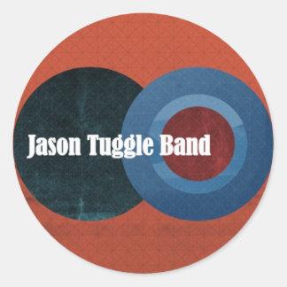 ジェイソンTuggleバンドはステッカーを一周します ラウンドシール