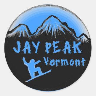 ジェイピークヴァーモントの芸術的なスキーヤー ラウンドシール