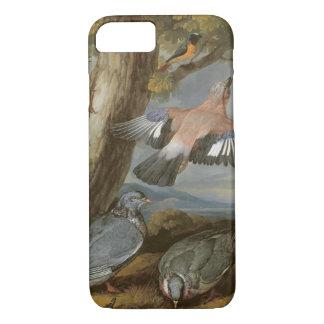 ジェイ、ヨーロッパアオゲラ、ハトおよびRedstart、c.165 iPhone 8/7ケース