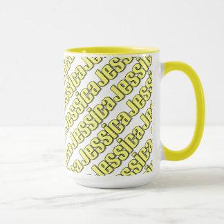 ジェシカの黄色のスタイルのマグ マグカップ