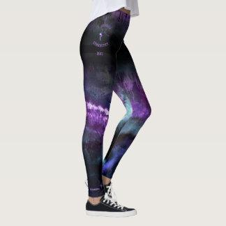 """: ジェシカの""""紫色の抽象芸術はとの体育専門家と衰退します レギンス"""