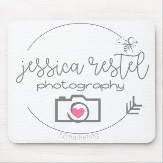 ジェシカRestelの写真撮影のロゴのマウスパッド マウスパッド