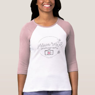 ジェシカRestelの写真撮影Bella 3/4の袖のRaglan Tシャツ