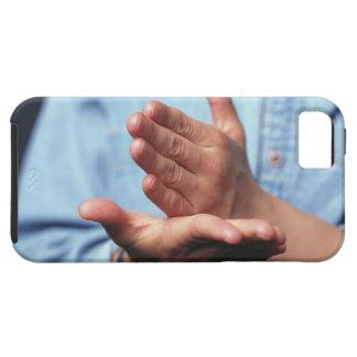 ジェスチャーを作る手: 手持ち型1つ次々に iPhone SE/5/5s ケース