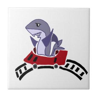 ジェットコースターのおもしろいの鮫の乗馬 タイル