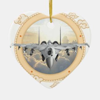 ジェット戦闘機 セラミックオーナメント