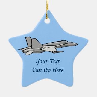 ジェット戦闘機F18のスズメバチの飛行機の飛行機のパイロットのデザイン セラミックオーナメント