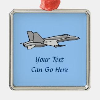 ジェット戦闘機F18のスズメバチの飛行機の飛行機のパイロットのデザイン メタルオーナメント