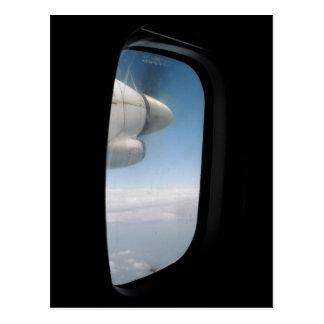 ジェット機で去ること ポストカード