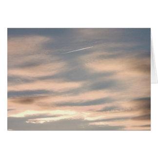 ジェット機との日没の雲: カード