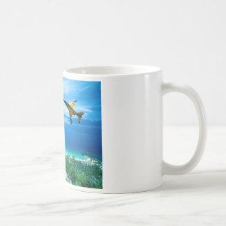 ジェット機のナイフの刃の操縦 コーヒーマグカップ
