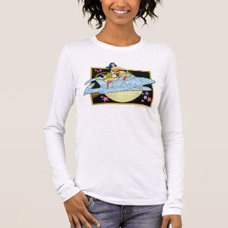 ジェット機を持つワンダーウーマン Tシャツ