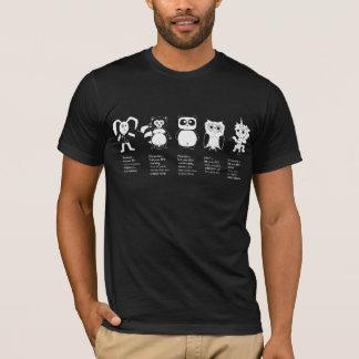 ジェット機動物のTシャツ Tシャツ