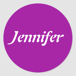ジェニファーの一流のテンプレート ラウンドシール