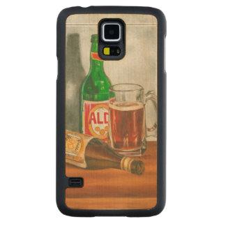 ジェニファーGoldberger著ビールが付いている静物画 CarvedメープルGalaxy S5スリムケース