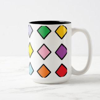ジェニファーShao著エスプレッソのマグの芸術 ツートーンマグカップ