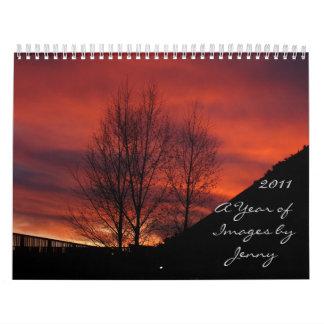 ジェニー著イメージの年 カレンダー