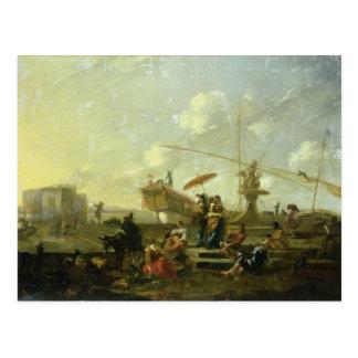 ジェノアの古い港 ポストカード