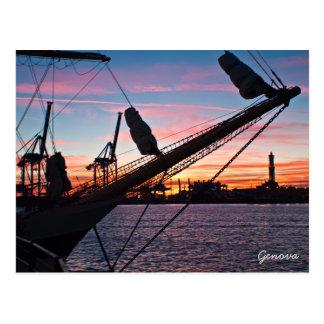 ジェノアの港 ポストカード