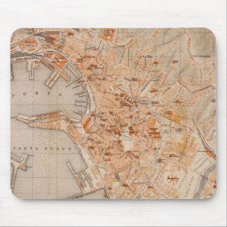 ジェノアイタリア(1906年)のヴィンテージの地図 マウスパッド
