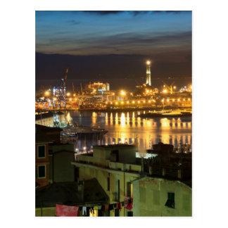 ジェノバ、イタリアの古代港 ポストカード