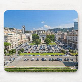 ジェノバ-広場のdella Vittoria マウスパッド