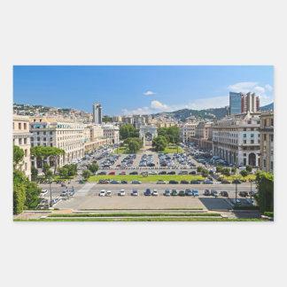 ジェノバ-広場のdella Vittoria 長方形シール