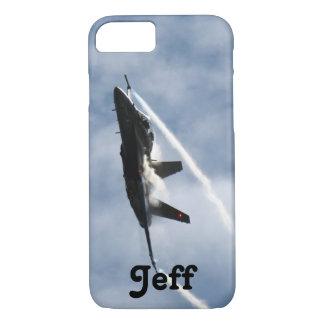 ジェフのためのF/A-18戦闘機の飛行機のエア・ショー iPhone 8/7ケース