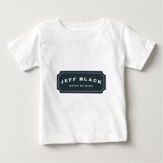ジェフの黒は憎みます私のブログ(青いロゴ)を ベビーTシャツ