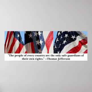 ジェファーソンおよび旗 ポスター