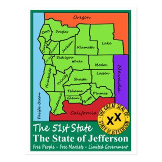 ジェファーソンの州 ポストカード