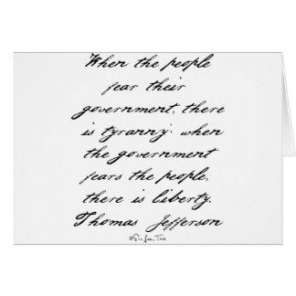 ジェファーソンの自由 カード