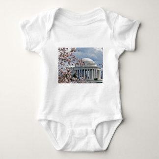 ジェファーソンの記念物-桜 ベビーボディスーツ