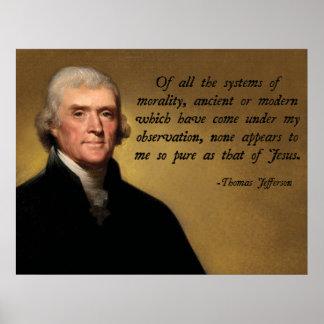 ジェファーソンイエス・キリストの引用文 ポスター