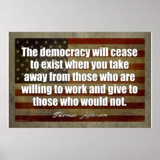 ジェファーソンポスター: 民主主義は終わります ポスター