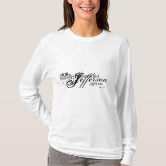 ジェファーソン何がWWJDするためにか。 フード付きスウェットシャツティー Tシャツ