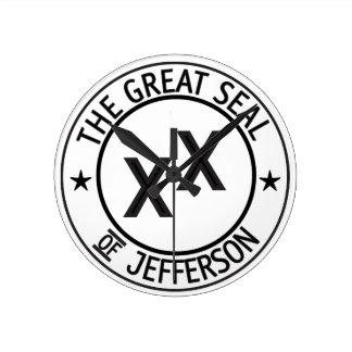 ジェファーソン時間 ラウンド壁時計